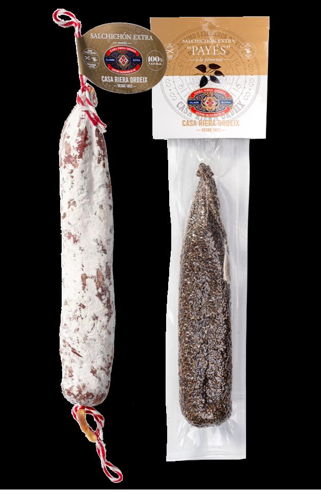 Pack Payés: Salchichón de Payés 'Mini' + Salchichón de Payés 'a la pimienta'