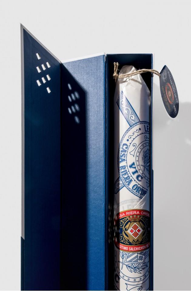 Saucisson de Vic dans une boîte cadeau magnétique